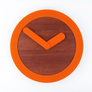 Wall clock KoLo Orange