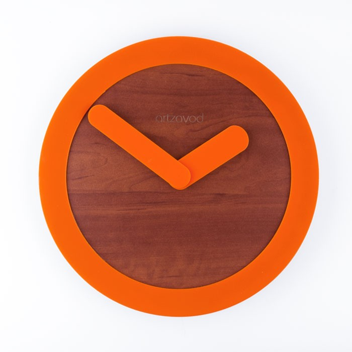 Wall clock KoLo Orange