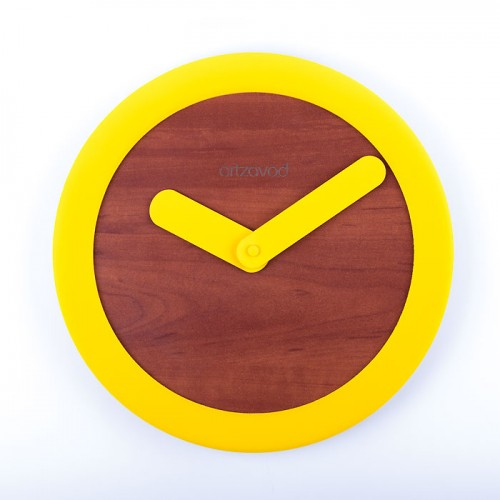 Wall clock  KoLo Yellow