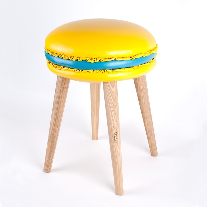 The stool Macaron Edith