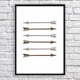 Art poster Arrows black and grey