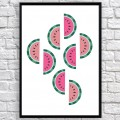 Art poster Watermelons original
