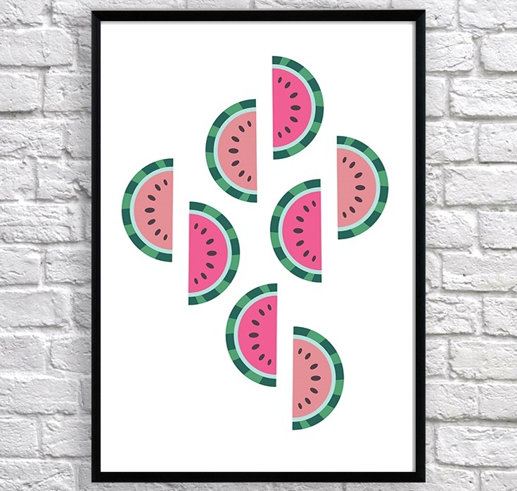 Art poster Watermelons original