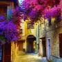 Настенный плакат Город в цвету