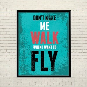 Арт постер Я хочу летать