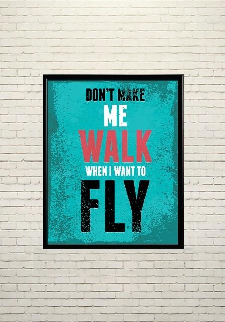 Арт плакат Я хочу летать