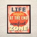 Арт постер За пределами зоны комфорта