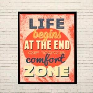 Art poster Comfort zone