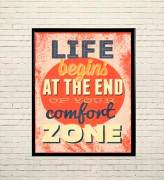 Арт плакат За пределами зоны комфорта