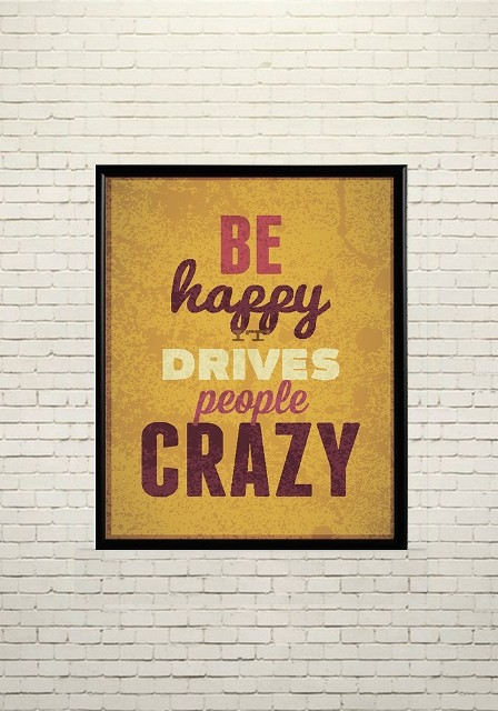 Art poster Be happy