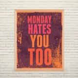 Арт постер Понедельник