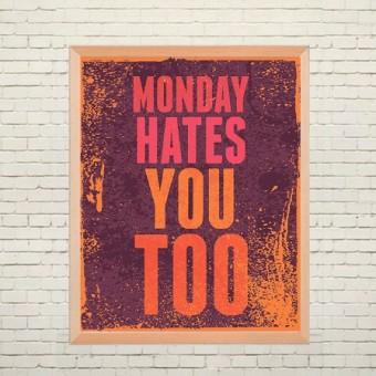 Арт плакат Понедельник