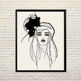 Арт постер Модная девушка