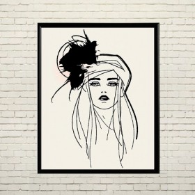 Art poster Fashion girl