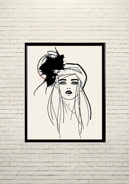 Арт плакат Модная девушка