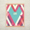 Арт постер Геометрическая любовь