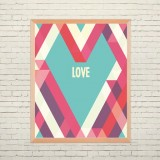 Art poster Geometric love