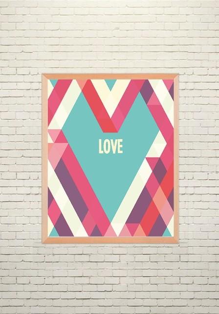 Арт плакат Геометрическая любовь