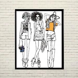 Art poster In trend