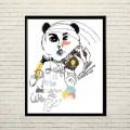 Арт постер В образе панды