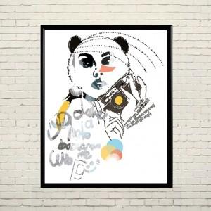 Art poster In the image of panda