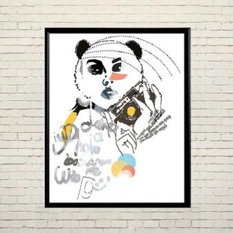 Арт плакат В образе панды