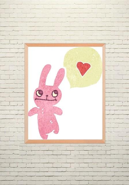 Art poster Bunny