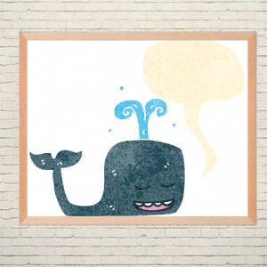 Art poster Whale