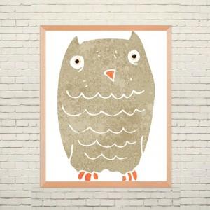 Art poster Funny Owl