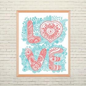 Арт постер Любовь