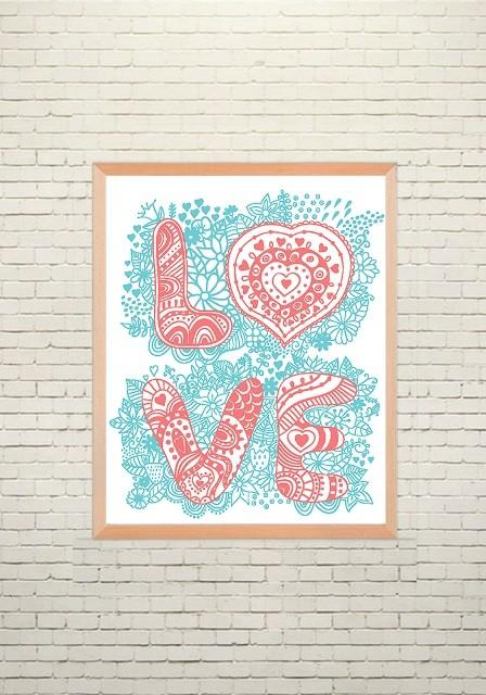 Арт плакат Любовь