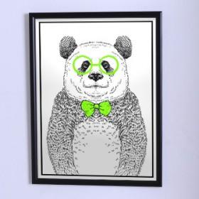 Оригинальный постер Панда с бабочкой