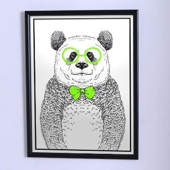 Оригинальный плакат    Панда с бабочкой