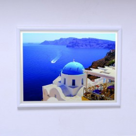 Poster The Sea view of Santorini