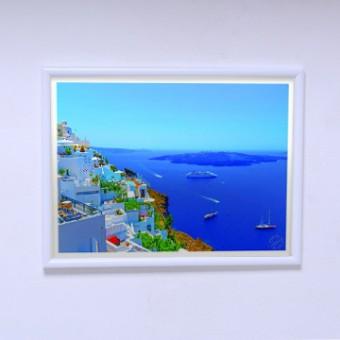 Плакат в комнату Панорама Санторини