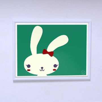 Плакат в комнату Модная зайка