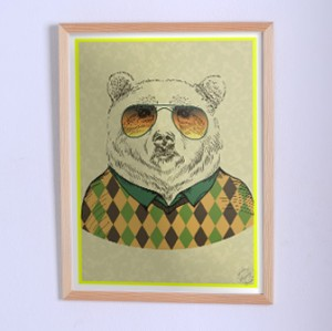 Poster The Bear in sweater