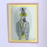 Оригинальный постер Зебра в пиджаке
