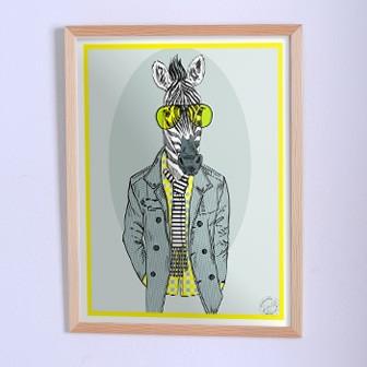 Оригинальный плакат Зебра в пиджаке