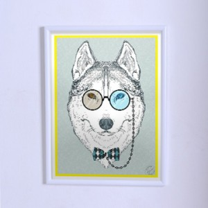 Poster The wolf with pince-nez