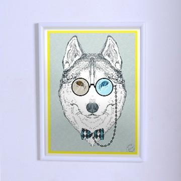 Оригинальный плакат Волк в пенсне