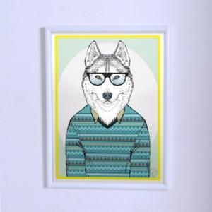 Оригинальный постер Волк в свитере