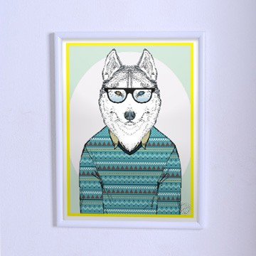 Poster The wolf in a sweater