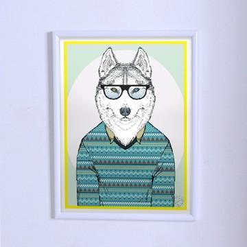 Оригинальный плакат Волк в свитере