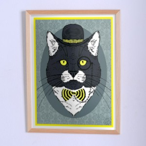 Оригинальный постер Кот с моноклем