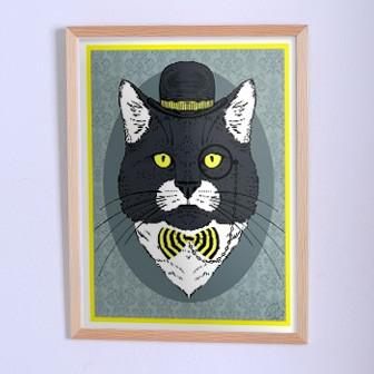 Оригинальный плакат Кот с моноклем