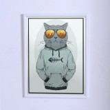 Art poster The cat in sweatshirt