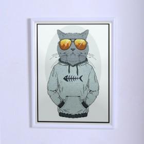 Оригинальный постер Кот в толстовке