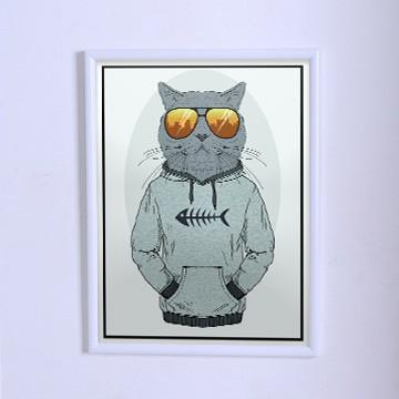 Оригинальный плакат Кот в толстовке