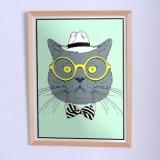 Оригинальный постер Кот в жёлтых очках